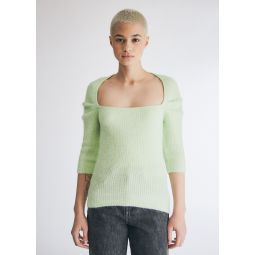 GANNI Soft Wool Knit in Patina Green   Need Supply Co.
