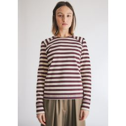 GANNI Striped Cotton Jersey Tee Shirt in Egret   Need Supply Co.
