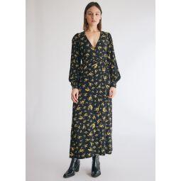 GANNI Printed Crepe Dress   Need Supply Co.