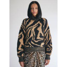 GANNI Hand Knit Wool Sweater   Need Supply Co.