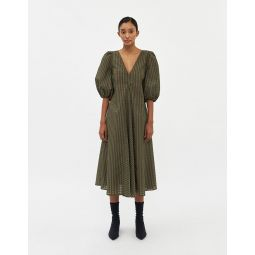 GANNI Seersucker Check Dress   Need Supply Co.