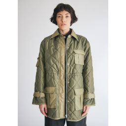 GANNI Ripstop Quilt Jacket in Kalamata   Need Supply Co.