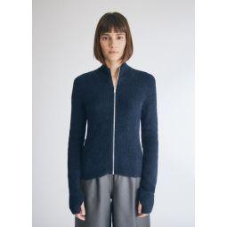 GANNI Zip Front Wool Cardigan   Need Supply Co.