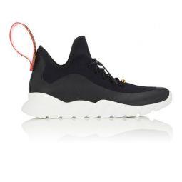 Mens Rubber-Strap Tech-Knit Sneakers