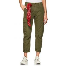 Cotton Twill Crop Cargo Pants