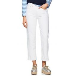 High Rise Stovepipe Crop Jeans