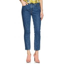 Double Needle Crop Jeans