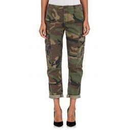 Camouflage Crop Cargo Pants
