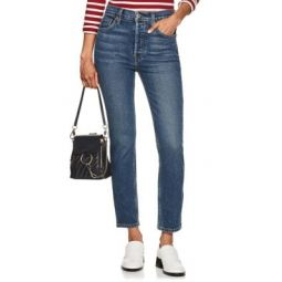 Stretch High Rise Ankle Crop Jeans