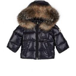 Infants K2 Fur-Trimmed Down-Quilted Hood