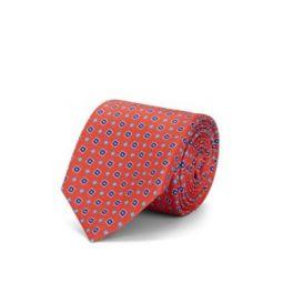 Square-Dot Silk Faille Necktie