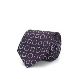 Geometric-Print Silk Faille Necktie