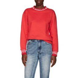 Logo-Knit Cotton-Blend Sweatshirt