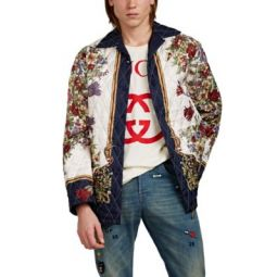 Floral Silk Twill Jacket