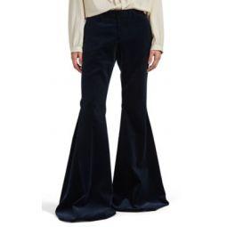 Velvet Super-Flared Trousers