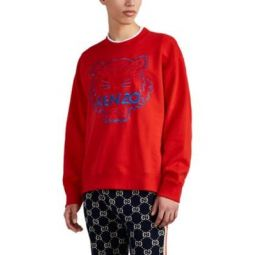 Tiger-Embroidered Cotton Sweatshirt