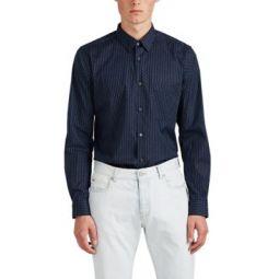 Irving Circle-Print Cotton Poplin Shirt