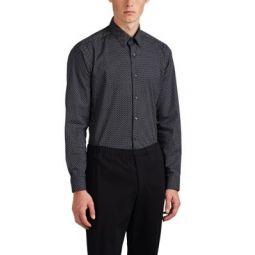Sylvain Geometric-Print Cotton Poplin Shirt
