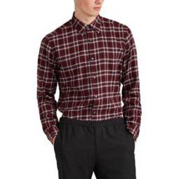 Menlo Plaid Cotton Flannel Shirt