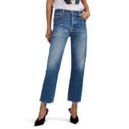 High-Rise Stovepipe Crop Levis Jeans