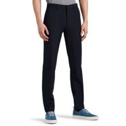 Zaine Stretch-Cotton Flat-Front Trousers