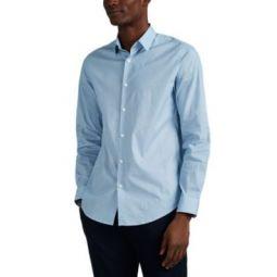 Murray Geometric-Print Cotton Shirt