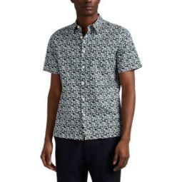 Irving Jigsaw-Print Cotton Shirt