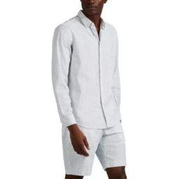 Irving Dot-Print Seersucker Shirt