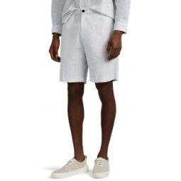 Noah Dot-Print Seersucker Shorts