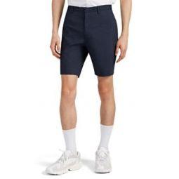 Linen-Blend Flat-Front Shorts