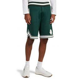 Logo-Detailed Striped Jersey Shorts