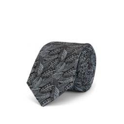 Leaf-Pattern Silk Jacquard Necktie