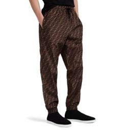 FF-Logo Tech-Taffeta Drawstring Jogger Pants