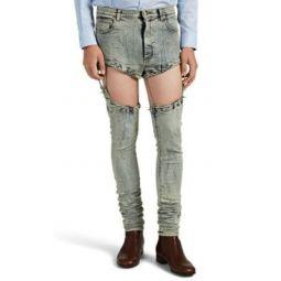 Acid-Washed Skinny Harness Jeans