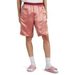Embroidered Satin Basketball Shorts