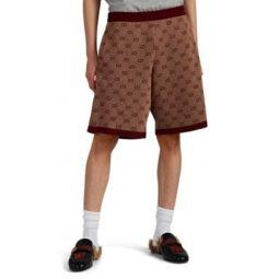 GG-Jacquard Wool-Cotton Shorts