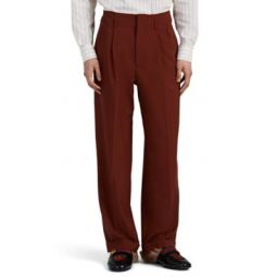 Worsted Wool Wide-Leg Trousers