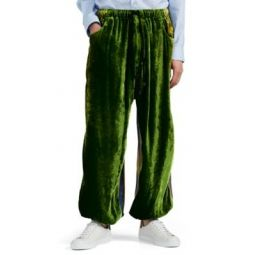 Mixed-Media Drop-Rise Pants