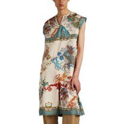Carousel Silk Tunic Dress