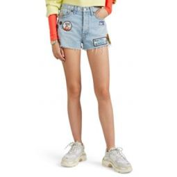 The Classic Embellished High-Rise Cutoff Shorts