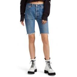 Levis Denim Long Cutoff Shorts