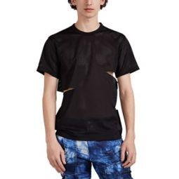 Slashed Perforated Mesh T-Shirt