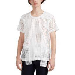 Fringe Raschel-Mesh T-Shirt