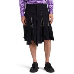 Fringed Wide-Leg Shorts