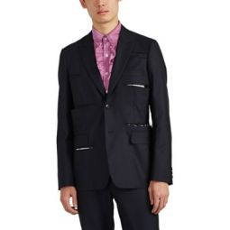 Slashed Wool-Blend Two-Button Sportcoat