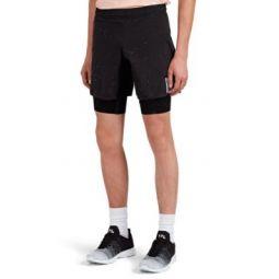 Paint-Splattered Compression Shorts