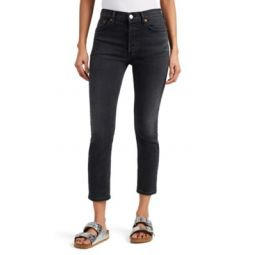 High Rise Ankle Crop Jeans