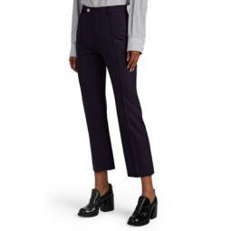 Stretch-Virgin-Wool Crop Pants