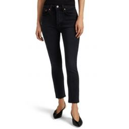 High-Rise Ankle Crop Jeans