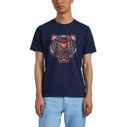 Tiger-Print Cotton T-Shirt
